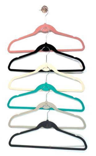 ClutterFREE Velvet Non-Slip Shirts Pants Hangers w// Cascading Hooks 30