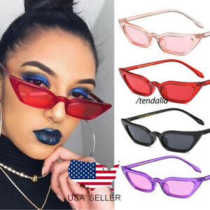 0e554013b53df 2018 Small Cat Eye Fashion Women Sunglasses Flat Top Retro Vintage ...