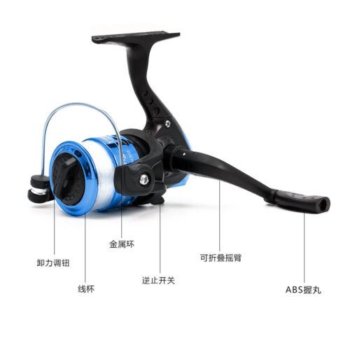 2.1m Telescopic Fishing Rod and Reel Combo Full Kit Spinning Fishing Reel J7G0