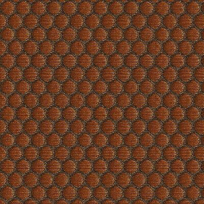Danish Mid Century Modern Floral Copper Brown Gold Upholstery Fabric
