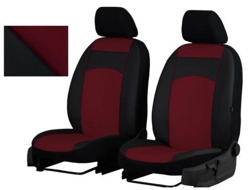 i30 i20 Burgundy EcoLeather Universal Front Seat Covers Hyundai i10
