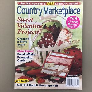 Country Marketplace magazine Feb 2006 Valentine folk prim country craft projects