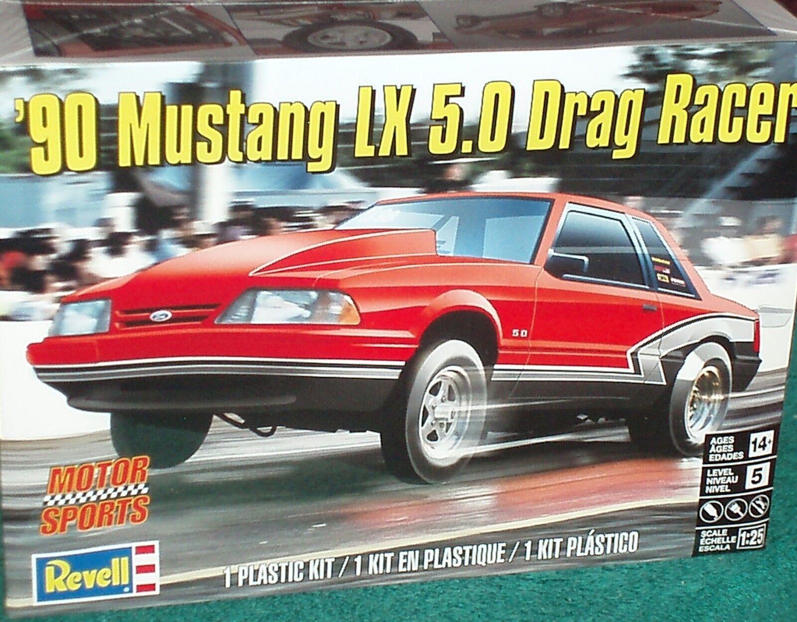 REVEL 1990 FORD MUSTANG 5.0 1  25 PLASTIC modellllerL SEALD SKILL 5 PRO STREET