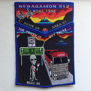 NEBAGAMON-OA-LODGE-312-BSA-LAS-VEGAS-AREA-51-FLAP-NOAC-1998-DELEGATE-ALIEN-GLOWS