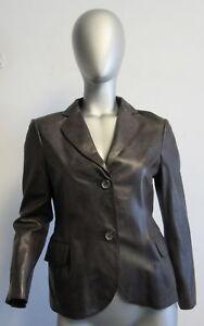 Brown 2 Leather Jacket 4 Jil Sander Sz 38 Button Deep tSwAH1xEq