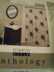 Image Is Loading Anthology Bold Mauve Pinks Floral Flowers Ivory Taupe