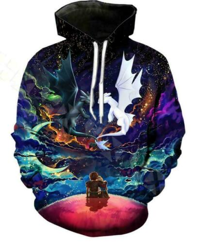 How To Train Your Dragon3D Print Hoodies Men Casual Sweater Pullover Sweatshirts