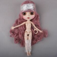 "[PF] 12"" Doll 19 Joints Combined Nude Doll Body Pink Long Hair ~ Matte Face"