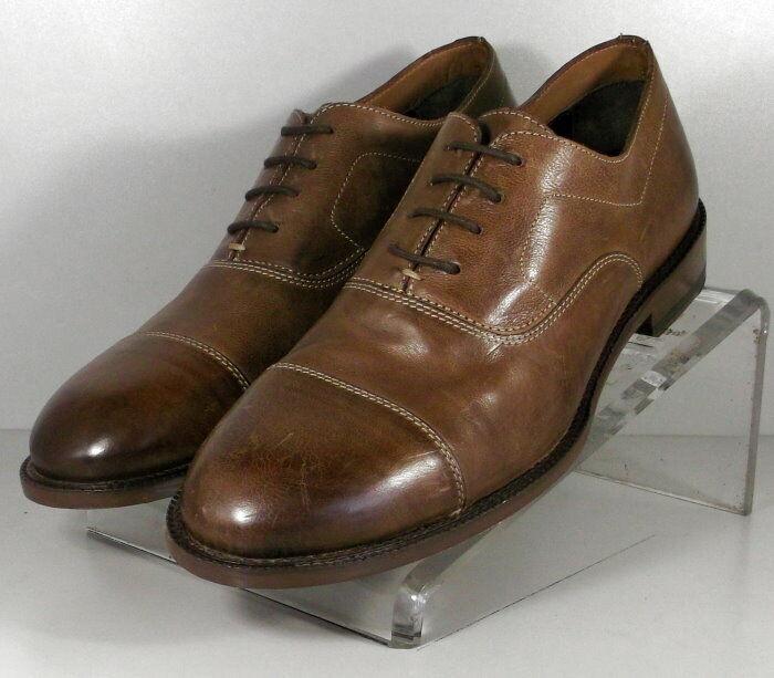 271426 FT50 Chaussures Hommes Taille 10.5 m marron en cuir à lacets Johnston Murphy