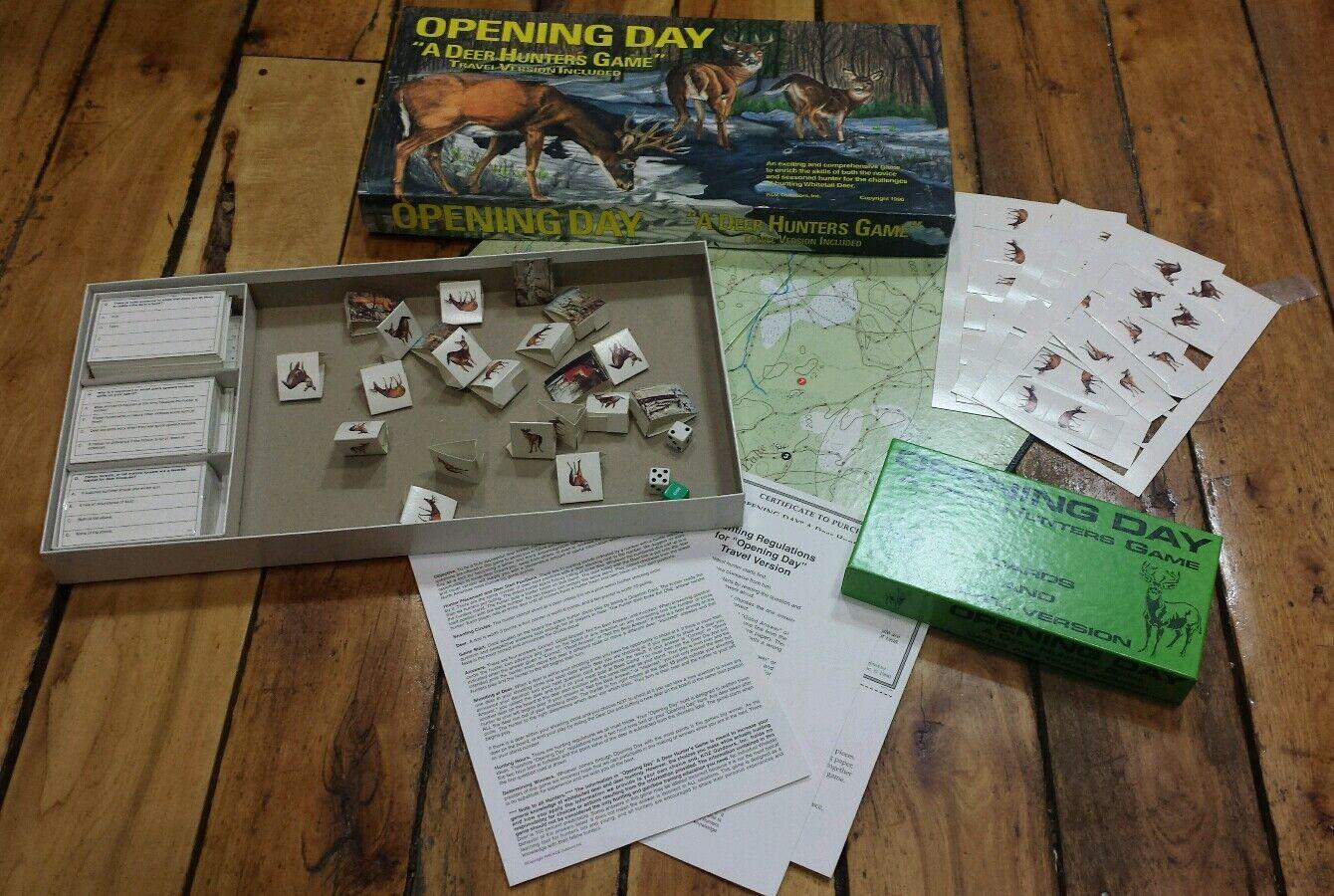 Día de apertura  un juego de los cazadores de ciervo (1990), Juego De Mesa Trivia caza Koz Outdoors