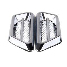 Silver Chrome Air Flow Intake Exterior Vent Fender Side Decor Stickers For Lexus