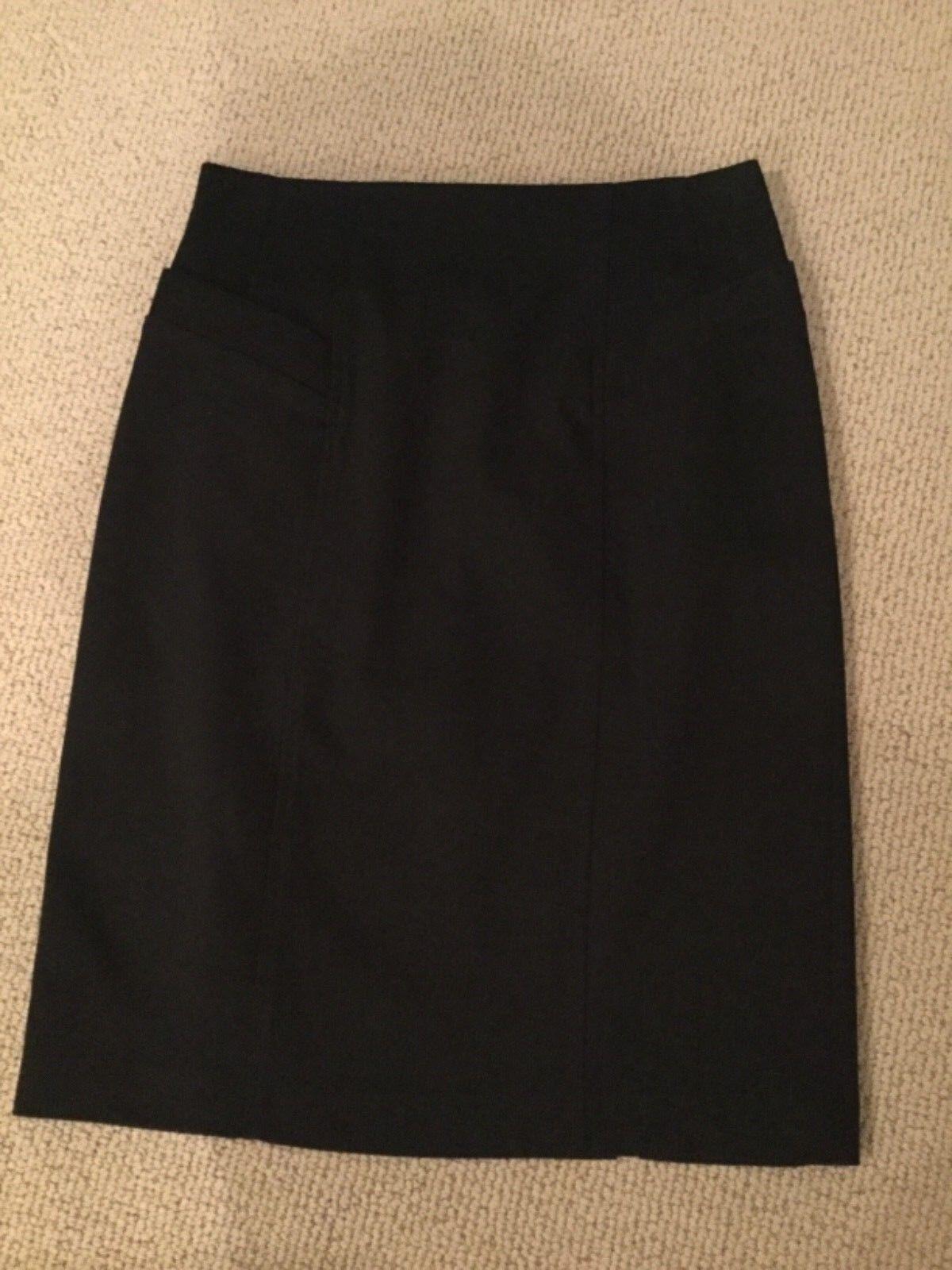 NWOT Nanette Lepore navy pencil skirt size 2 lined slits