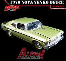 "GMP 18831 1:18 1970 CHEVROLET NOVA ""YENKO DEUCE"" CITRUS GREEN LIMITED ED 600PCS"