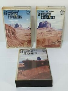 Vintage Retro Country Favourites Music Cassettes Tapes Bundle x 3 Compilations
