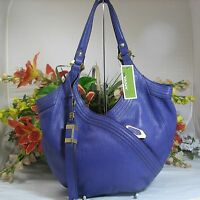 Gorgeous Oryany Tracy Mid-size Purple Pebbled Leather Hobo With Large Tassel