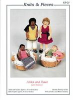 ANIKA AND DAWN WITH BABIES  Knits & Pieces Sandra Polley knitting pattern KP-25