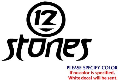 "12 STONES Metal Music Rock Band JDM Funny Vinyl Sticker Decal Car Window Wall 7/"""