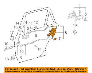 Image is loading TOYOTA-OEM-98-02-Corolla-Rear-Door-Lock-  sc 1 st  eBay & TOYOTA OEM 98-02 Corolla Rear Door-Lock or Actuator Latch Release ...