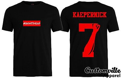classic fit e5a61 1d1e0 🔥 Im With Kap #IMWITHKAP Shirt United We Stand Colin Kaepernick 7 fist box  logo | eBay