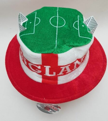 ENGLAND FLAG ST GEORGE FOOTBALL MATCH Hat Novelty Fancy One Size Russia 2018 UK