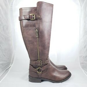 G BY GUESS WIDE CALF BROWN Leather
