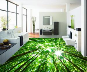 3D Green Grove Sun 52 Floor WallPaper Murals Wall Print 5D AJ WALLPAPER UK Lemon