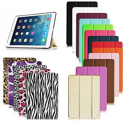 Ultra Thin Magnetic PU Leather Smart Cover Case For Apple iPad Multi-Color