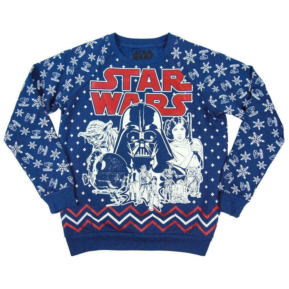 Para Dama Retro Star Wars Estampado Entero Navidad Corbata Luchador Festive