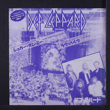 DEF LEPPARD: Pour Some Sugar On Me / Love Bites 45 (Japan, PS, promo only)