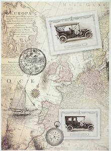 ricepaper for decoupage decopatch scrapbook craft sheet a 3 vintage old map 2 ebay. Black Bedroom Furniture Sets. Home Design Ideas