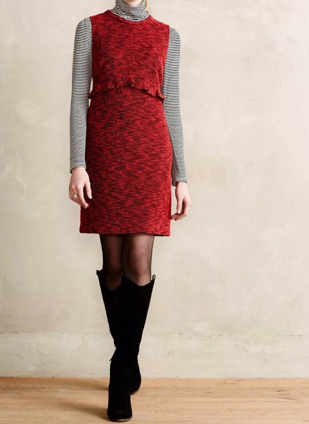 NEW Anthropologie Hi There Karen Walker Charlotte Boucle Boucle Boucle Sheath Dress Size 10 3ebfbc