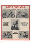 Pubblicità 1970 MOTO BIMM MOTOR CROSS old advertising werbung publicitè reklame
