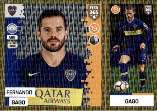 Boca Juniors Sticker 310 a//b Fernando Gago Panini FIFA365 2019