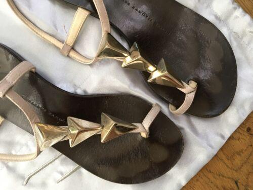 Chez Giuseppe Us Sandales Zanotti 35 Vamps Chaussures Flats Ornements Sz 5 Uk 2 Avec n44q6xr17I