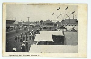 Ferris-Wheel-Racetrack-Racing-New-York-State-Fair-SYRACUSE-NY-Vintage-Postcard