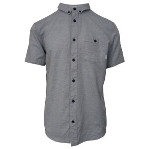 Quik-Silver-Men-039-s-Soft-Pastel-Blue-Waterfall-S-S-Woven-Shirt-Retail-55