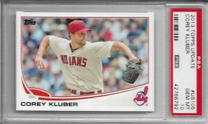 2013-Topps-Update-Corey-Kluber-Rookie-PSA-10-Gem-Mint-Yankees-RC-Graded-US105