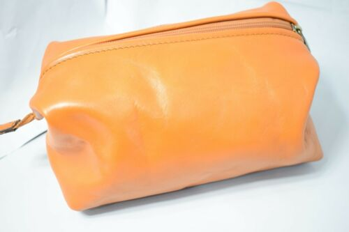 ENGRAVED REAL LEATHER WASH BAG toiletries toiletry travel weekend GENTS MENS