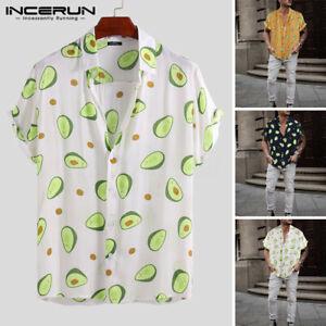 Para-hombres-camisa-hawaiana-de-manga-corta-fiesta-de-playa-de-vacaciones-de-surf-de-ciervo-Camisa