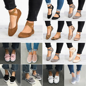 Womens-Moccasins-Ballet-Flats-Loafers-Pumps-Slip-On-Party-Casual-Boat-Shoes-Szie
