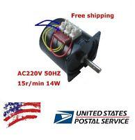 Us Ship 60ktyz Permanent Magnetic Synchronous Motor 220 - 240v 14w 15rpm