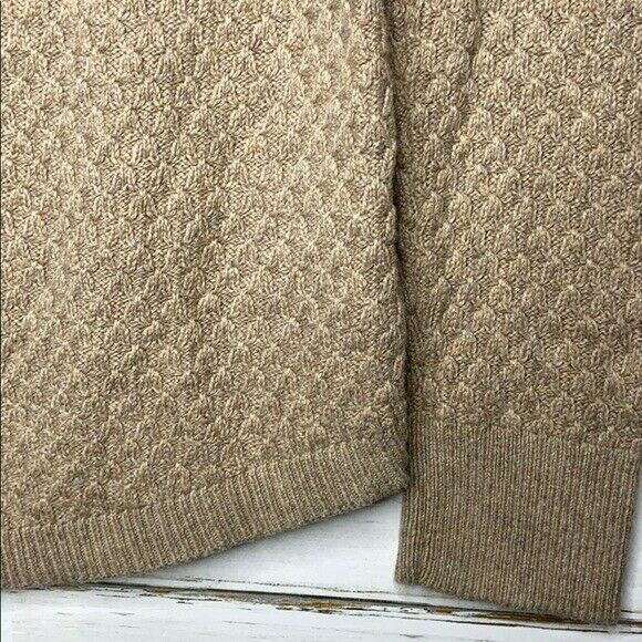 Loft Tan Sweater Textured Knit S - image 4