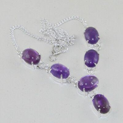 Amethyst Handmade Necklace 21 Gms N-10086