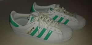 adidas superstar mint green and white
