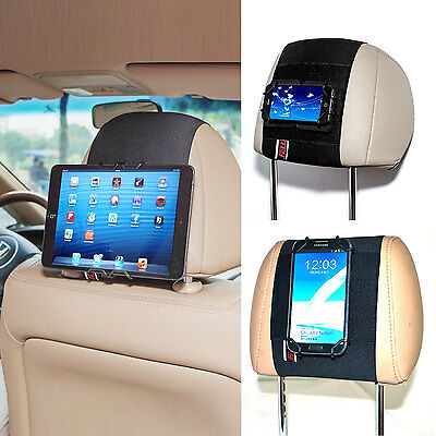 Universal Car Headrest Mount Holder for iPhone X / 8 iPad Mini Smartphone Tablet