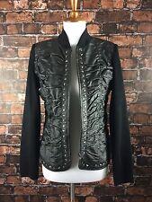 Peter Nygard 100% Leather Jacket Sz Small Studded Gothic Steampunk Punk Grunge