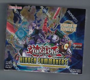 Yu-Gi-Oh Hidden Summoners sealed 1st Edition booster box 24 packs of 5 cards