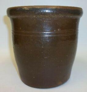 Old-Cannelton-Pottery-Brown-Crock-Jar