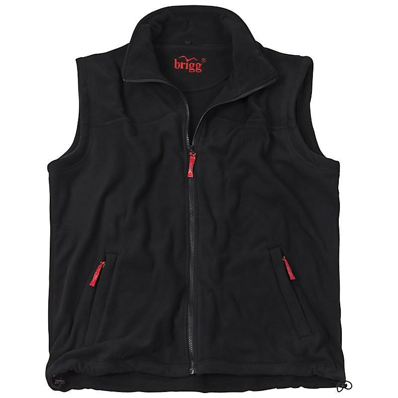 Fleece Weste Übergröße black - große Größen 3XL 4XL 5XL 6XL 7XL 8XL   NEU