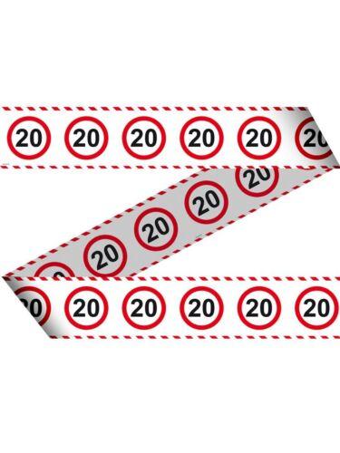 """Geburtstag Dekoration Verkehrsschild Zahl /""""20/"""""""